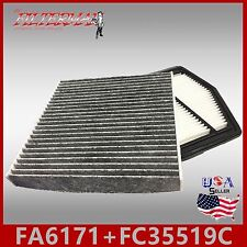 FA6171 FC35519C(CARBON) OEM QUALITY ENGINE & CABIN AIR FILTER: 2012-15 CIVIC 1.8