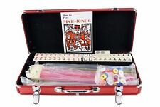 Open Box Red American Mah jong Full 166 Set Mah Jongg Tiles Set w/Gift