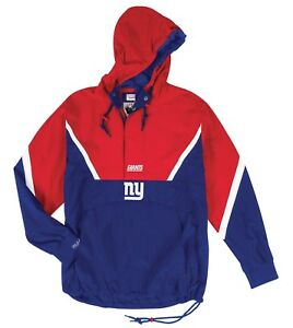 """New York Giants Mitchell & Ness NFL Men's """"Anorak"""" 1/2 Zip Pullover Jacket"""