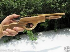 Rubber Band Launcher Shooting Wooden Pistol Wood Hand Gun Rifle Wooden gun