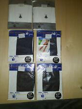 6 Feinstrumpfhosen Gr. M 20 den blau +schwarz + weiß Set 3