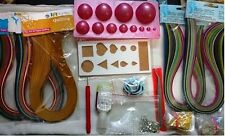 24 Pcs Quilling kit Combo -Papers,Mould,tools,jewelmaking,singl color paper-FREE