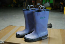 LL Bean Puddle PURPLE  waterproof rubber Stompers Rain Boots Size  13