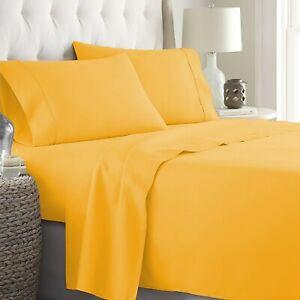 Comfort Sheet Collection AU Sizes Select Deep Pocket & Item Gold Solid