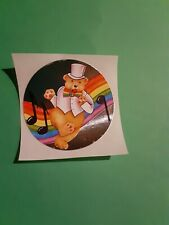 vintage 80's Lisa Frank foil dancing bear sticker *restored*(free ship $20 min)