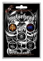 OFFICIAL LICENSED - MOTORHEAD - ENGLAND 5 BADGE PACK ROCK METAL LEMMY
