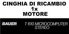 ★CINGHIA DI RICAMBIO MOTORE 1 x PROIETTORE BAUER T 610 SUPER 8 mm ★