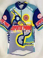 Pearl iZumi Jersey Mens large Biking Ride Cycling Gear Shirt Shortsleeve Blue CO