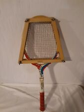 Vintage Spalding Future Pro Tennis Racket Red and Blue with Blue protecto-rac