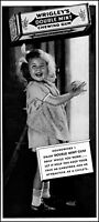 1937 Smiling little girl Wrigley's Double Mint Gum vintage photo print ad S6