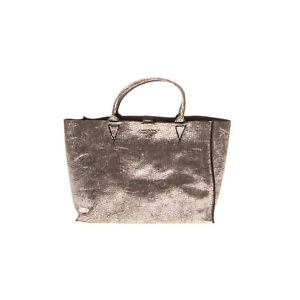 """RRP €185 DIESEL """"BALICONNECTION"""" LE-GARUDA Leather Tote Bag Metallic Slouchy"""