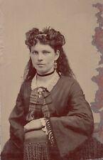Tintype Photo of Lady Fantastic Earrings Great Hair and Dress