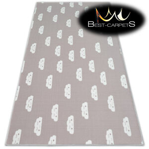 Anti-slip CHILDREN'S CARPET CLOUDS Pink Kids Play Area Bedroom Rug ANY SIZE