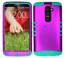 KoolKase Hybrid Silicone Cover Case for LG G2 - Purple (R)
