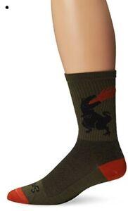 SockGuy, Men's Wool Socks - Large/X-Large, Dinosaur