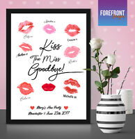 'KISS THE MISS GOODBYE' Personalised Accessories gift - Hen Do/Bride to be A4/A3