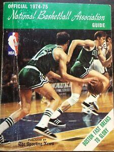 NBA BASKETBALL OFFICIAL NBA GUIDE 1974-75 EXCELLENT CONDITION