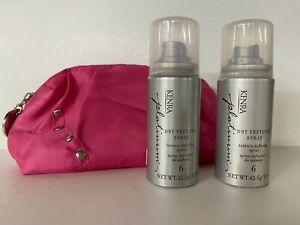 2 x Kenra Platinum Dry Texture Spray  #6  Travel Size 1.5oz + OPI travel bag