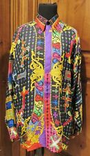 Vintage Atelier Versace Shirt Le Croci  The Cross  RARE Iconic