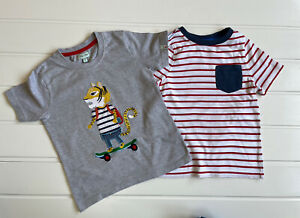 Boys Tiger age 5-6 Years T-shirt Lilly & Sid & Waitrose Striped Printed Detail