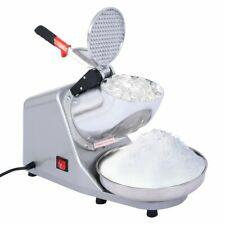 Electric Ice Crusher Shaver Snow Cone Maker Machine Dual Blades 143lbshr Silver