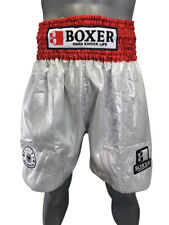 Boxer Long Lame Trunks Red / Silver Free Shipping from Japan S-Xl Boxing New Jpn