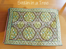New listing New Vera Bradley Placemats Set of 2 Sittin In A Tree Moss Green Tableware Linens