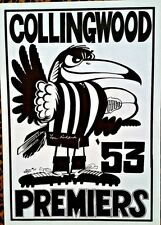 COLLINGWOOD PREMIERS 1953 - WEG POSTER SIGNED BY LOU RICHARDS