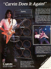 CARVIN GUITAR AD vtg Jefferson Starship CRAIG CHAQUICO Pinup Advertisement Page