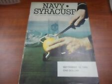 1965 OFFICIAL NCAA FOOTBALL PROGRAM NAVY / SYRACUSE RARE