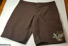 Ripcurl Womens Board Shorts Surf Swim Chocolate Size 9 With Sequins
