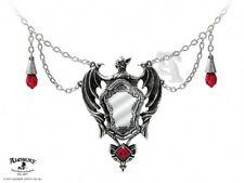 Alchemy Gothic Drakuls Bat Mirror Pendant Necklace