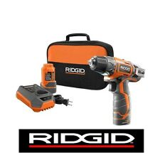 RIDGID 12v 12 VOLT CORDLESS DRILL CHARGER (2) 1.5 Ah BATTERIES & BAG KIT R82005K