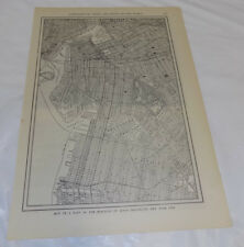 1911 Collier Map of NEW YORK CITY, PART OF BROOKLYN