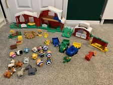 Fisher Price Little People Farm & Figures Accessories Toy Lot Animals Barns