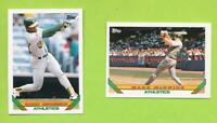 1993 Topps Team Set - Oakland Athletics (28 Cards)  Rickey Henderson & McGwire