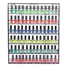 6 Tiers Metal Nail Polish Display Organizer Wall/Door Hanging Rack Holder Black