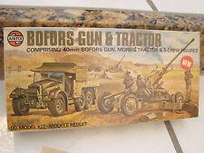 Airfix 40Mm Bofors Gun&Tractor 5 crew 00 scale plastic model kit vintage England