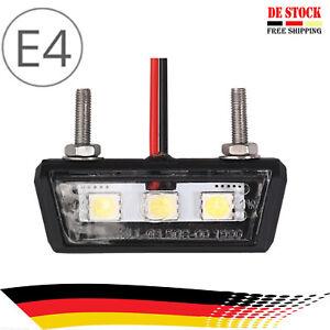 Mini LED Kennzeichen Beleuchtung Nummernschild Beleuchtung Motorrad PKW Auto 12V