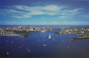 Sydney Panorama, Sydney Harbour Bridge and Opera House. David Sawyer Quality.
