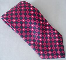 Bijoux Terner Necktie Tie Red/Black Squares Blue/White Checkerboard Silk Long 62