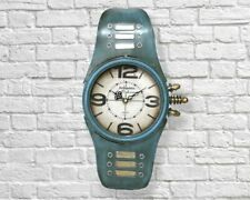 39cm Giant Blue Wrist Watch Metal Wall Clock Vintage Retro Home Big - FREE P+P