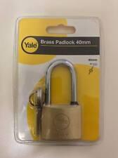 Yale Brass Security Padlock 40mm Body With 2 Keys Hardened Shackle