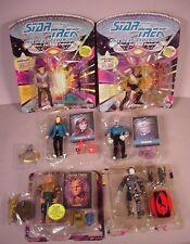 """Vintage 1992 Star Trek 6 Action figures 5"""" toys Aliens & Crew  MOC Mint complete"""