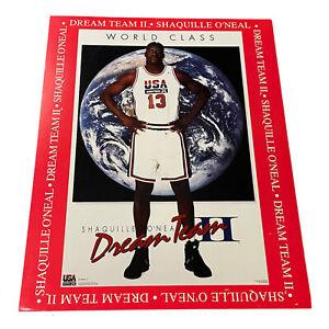 "SHAQ Shaquille O'Neal WORLD CLASS Dream Team II 1994 Vintage 16"" x 20 "" POSTER"