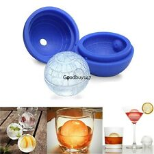"""US STOCK 3"""" Round Silicone Death Star Wars Ice Cube Mold Sphere Mould Icing Tool"""