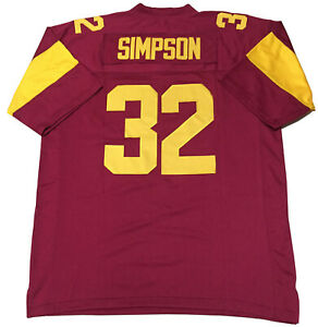 Small OJ Simpson USC Football College Jersey Men Adult Stitched