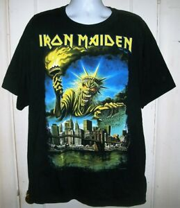 Iron Maiden Somewhere Back in Time NYC New York dated 2012 XXL 2XL T-Shirt