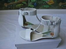 Michael Kors Women's White Studded Leather Celena Wedge Sandal Shoes SZ 7.5M New