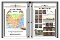 Album de timbres à imprimer KOUANG-TCHEOU Colonie Française en Chine du sud